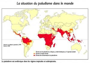 carte du paludisme